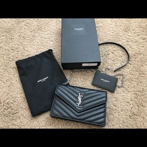 Very Gently Used ! YSL - CHAIN WALLET